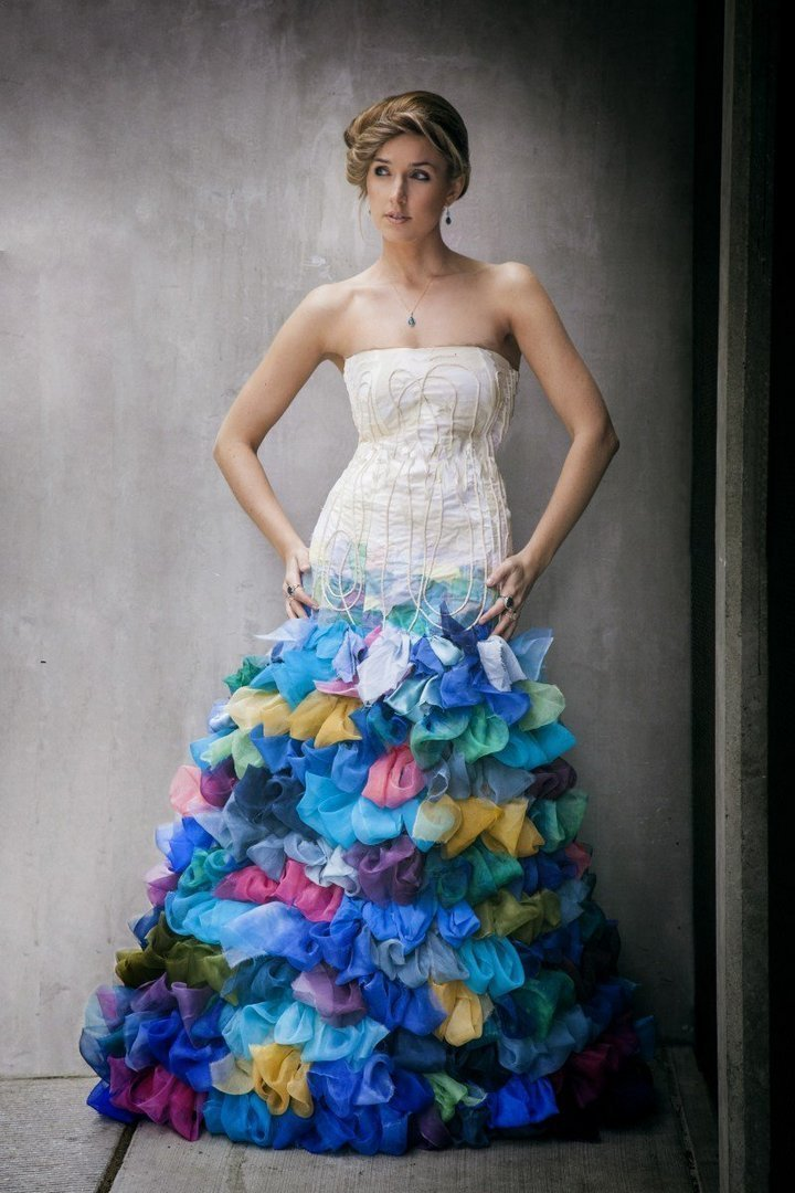 Cheap colorful wedding dresses wedding and bridal for Affordable non traditional wedding dresses