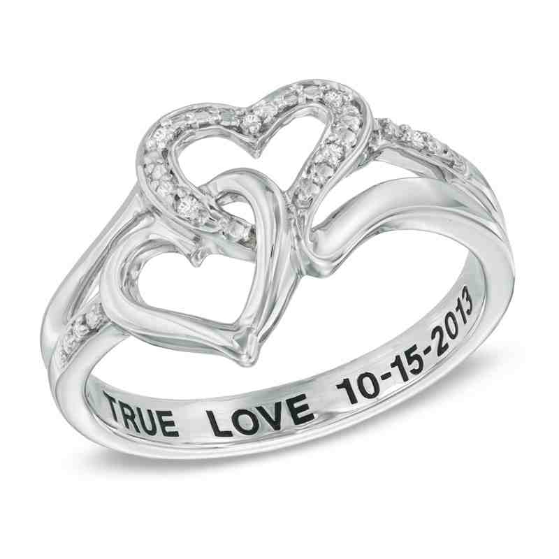 cheap personalized promise rings for her wedding and. Black Bedroom Furniture Sets. Home Design Ideas