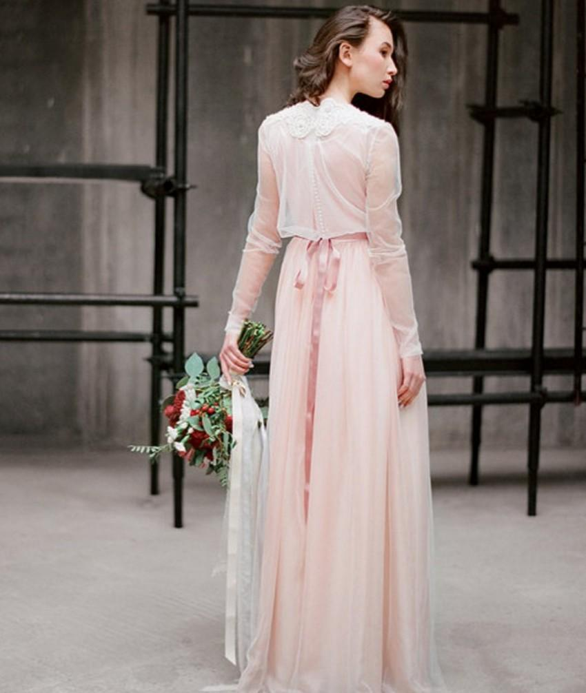 Pastel Colored Wedding Dresses