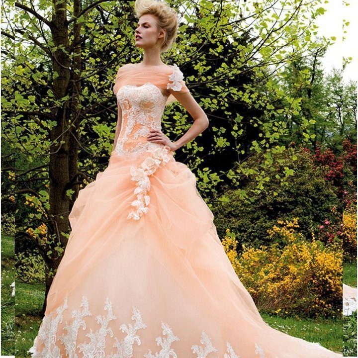 Non Traditional Wedding Dresses With Color: Wedding And Bridal Inspiration