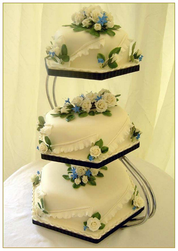 3 tier square wedding cake stands 3 tier wedding cake stand wedding and bridal inspiration 10265