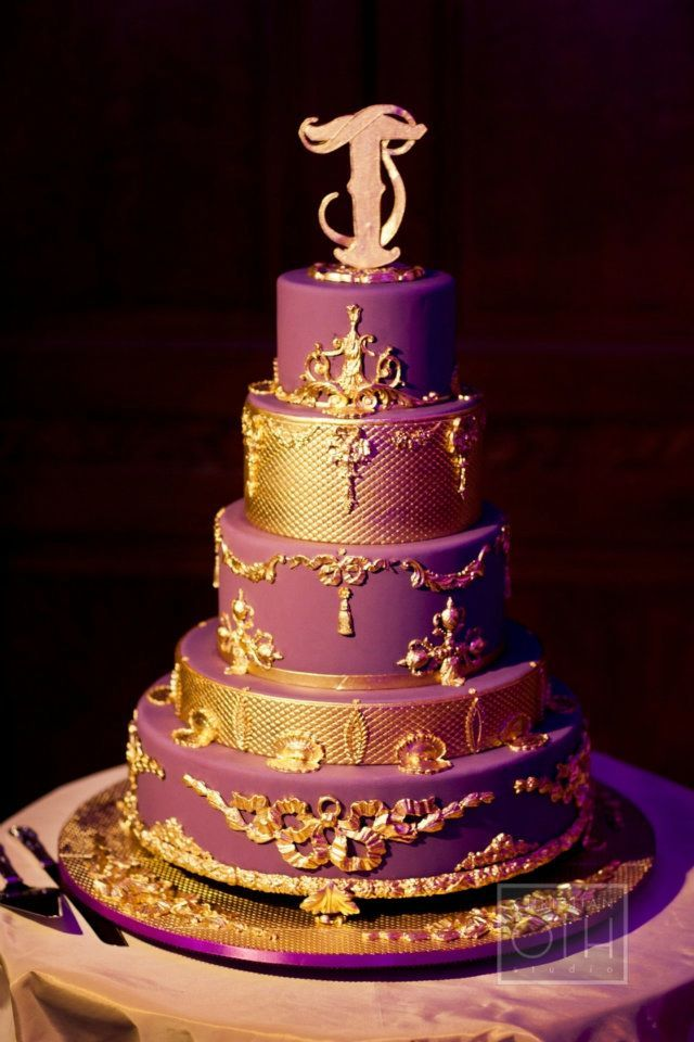 royal purple and gold wedding cake purple and gold wedding cakes wedding and bridal inspiration 19409
