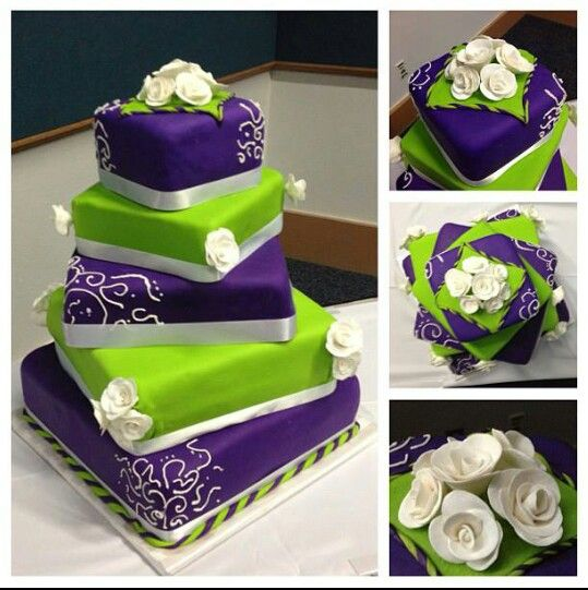 purple and lime green wedding cakes purple and green wedding cakes wedding and bridal 18862