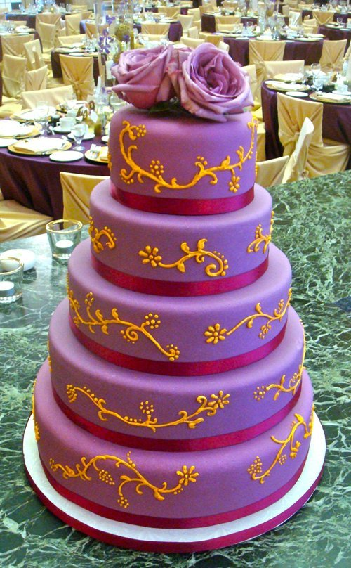 orange and purple wedding cake ideas purple and orange wedding cakes wedding and bridal 18038