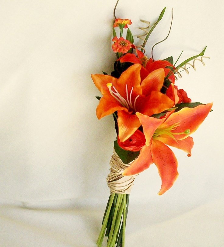 tiger lily bouquets weddings tiger bridal bouquet wedding and bridal inspiration 8007