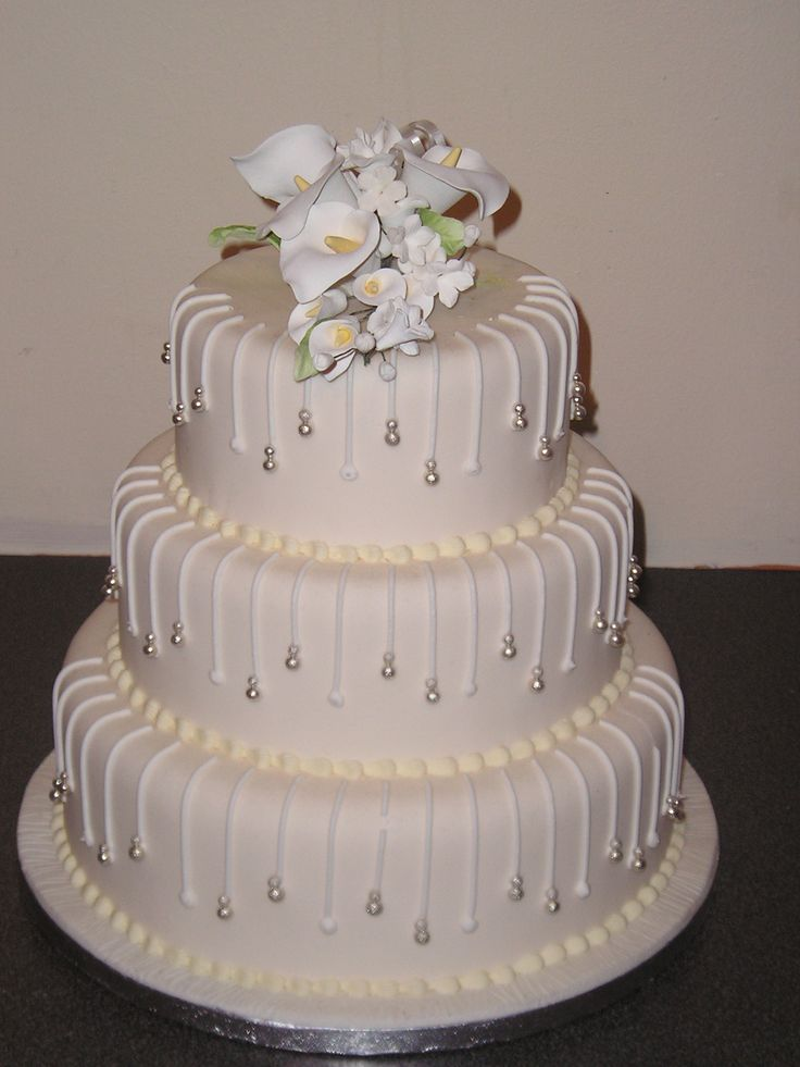 simple 3 tier wedding cake designs 3 tier wedding cake designs wedding and bridal inspiration 19917