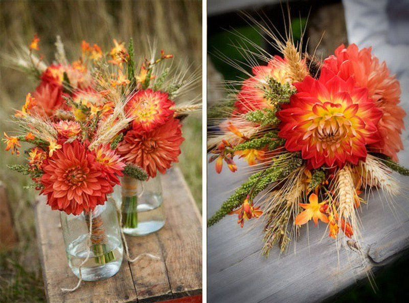 inexpensive wedding flowers for fall cheap fall wedding flowers wedding and bridal inspiration 5138