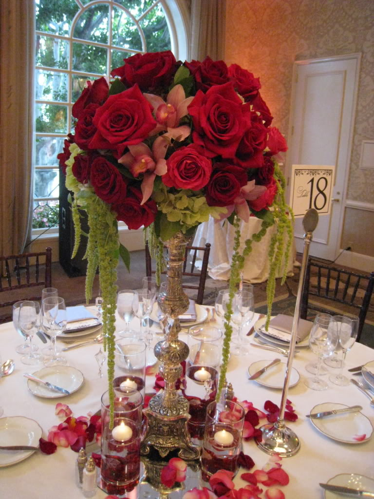wedding ideas in red wedding centerpieces ideas wedding and bridal 28223