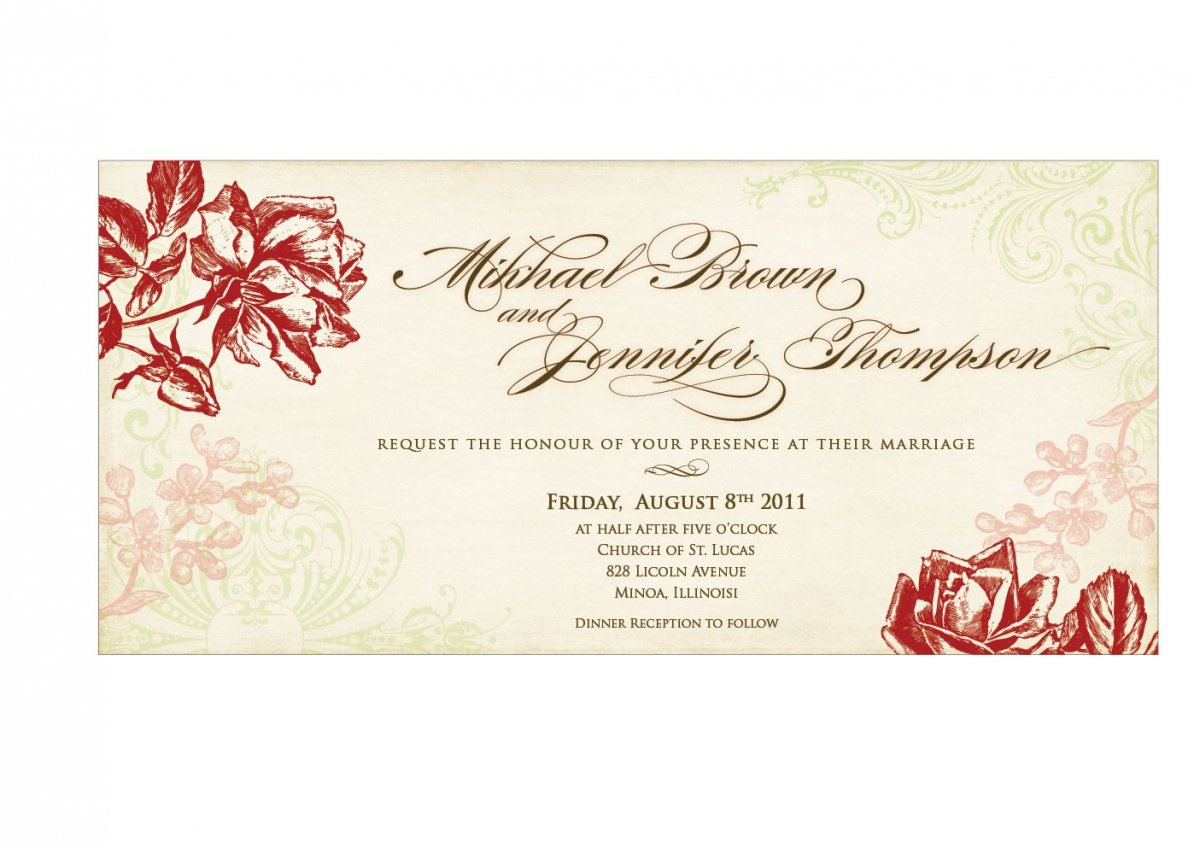 Wedding Invitation Card Sample: Using Wedding Invitation Templates