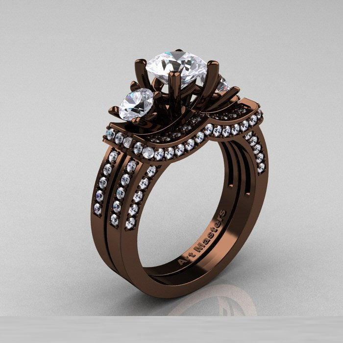 chocolate wedding rings chocolate gold wedding rings wedding and bridal inspiration 2917