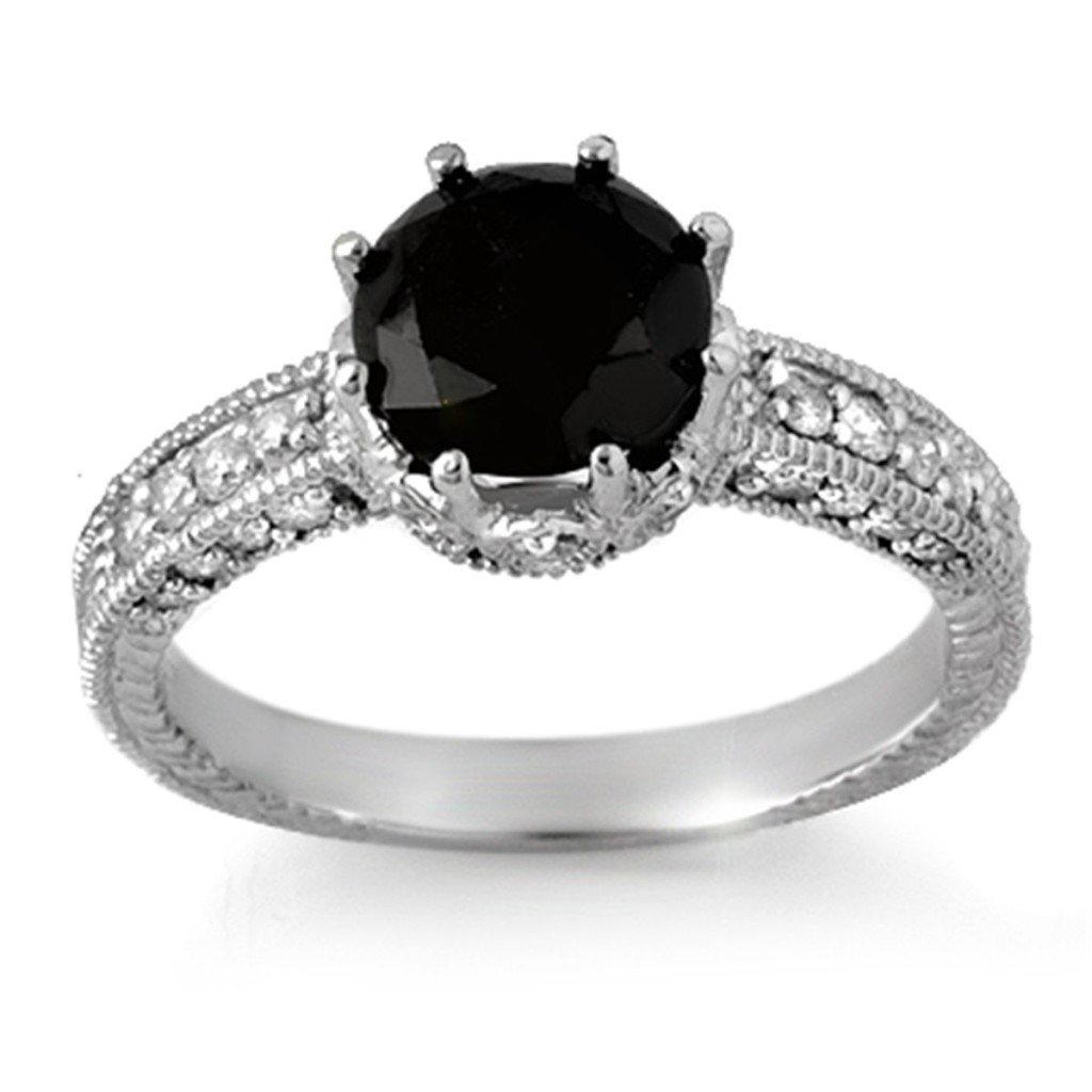 wedding rings with black diamonds black sterling silver engagement rings wedding 1084