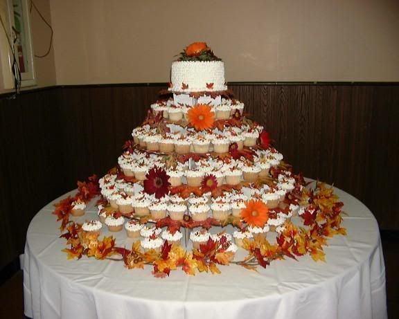 fall wedding cakes with cupcakes fall cupcake wedding cakes wedding and bridal inspiration 14171