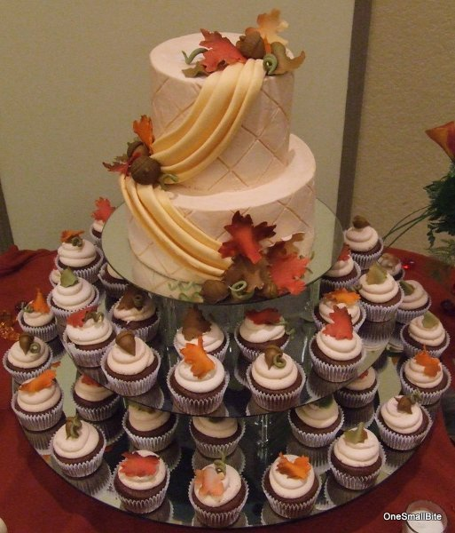 fall wedding cakes with cupcakes fall wedding cupcakes wedding and bridal inspiration 14171