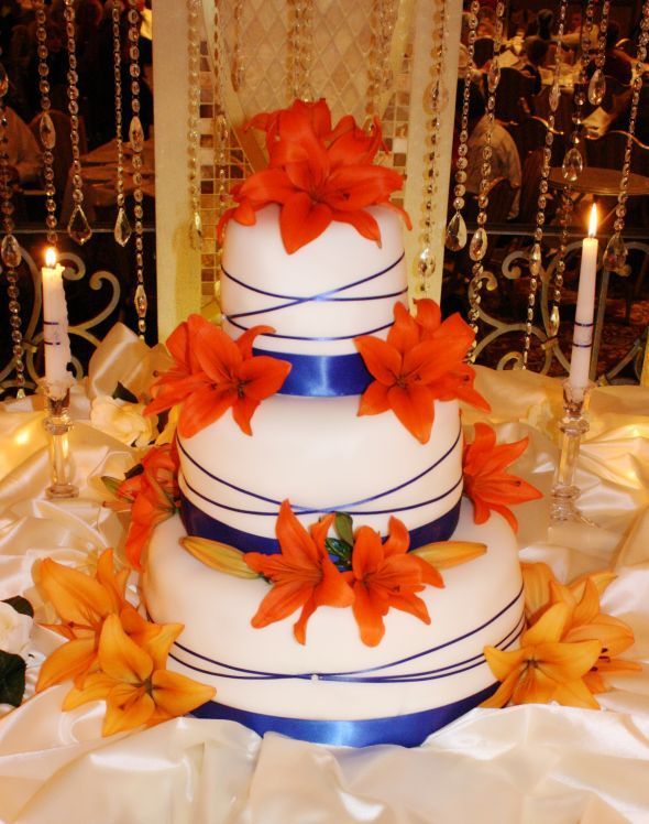 navy blue and orange wedding cakes blue and orange wedding cakes wedding and bridal inspiration 17756