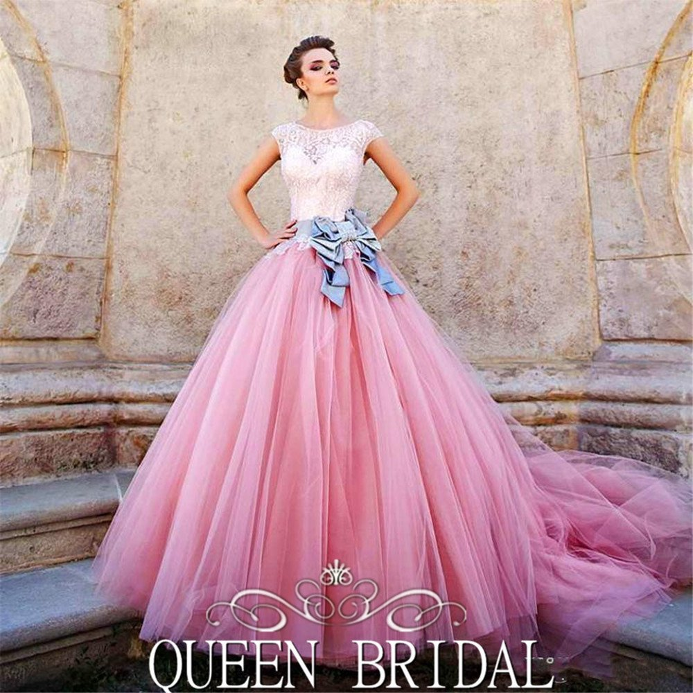 Pink Color Wedding Gown: Wedding And Bridal Inspiration