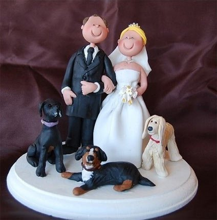 personalized wedding cake topper with dog custom wedding cake toppers with dogs wedding and bridal 18289