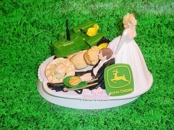 john deere tractor wedding cake toppers deere wedding cake toppers wedding and bridal 16602