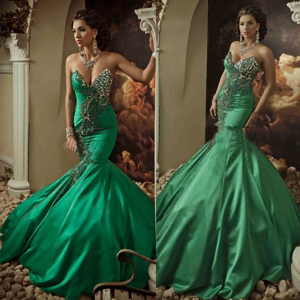 How to Choose the Prettiest Green Wedding Dresses