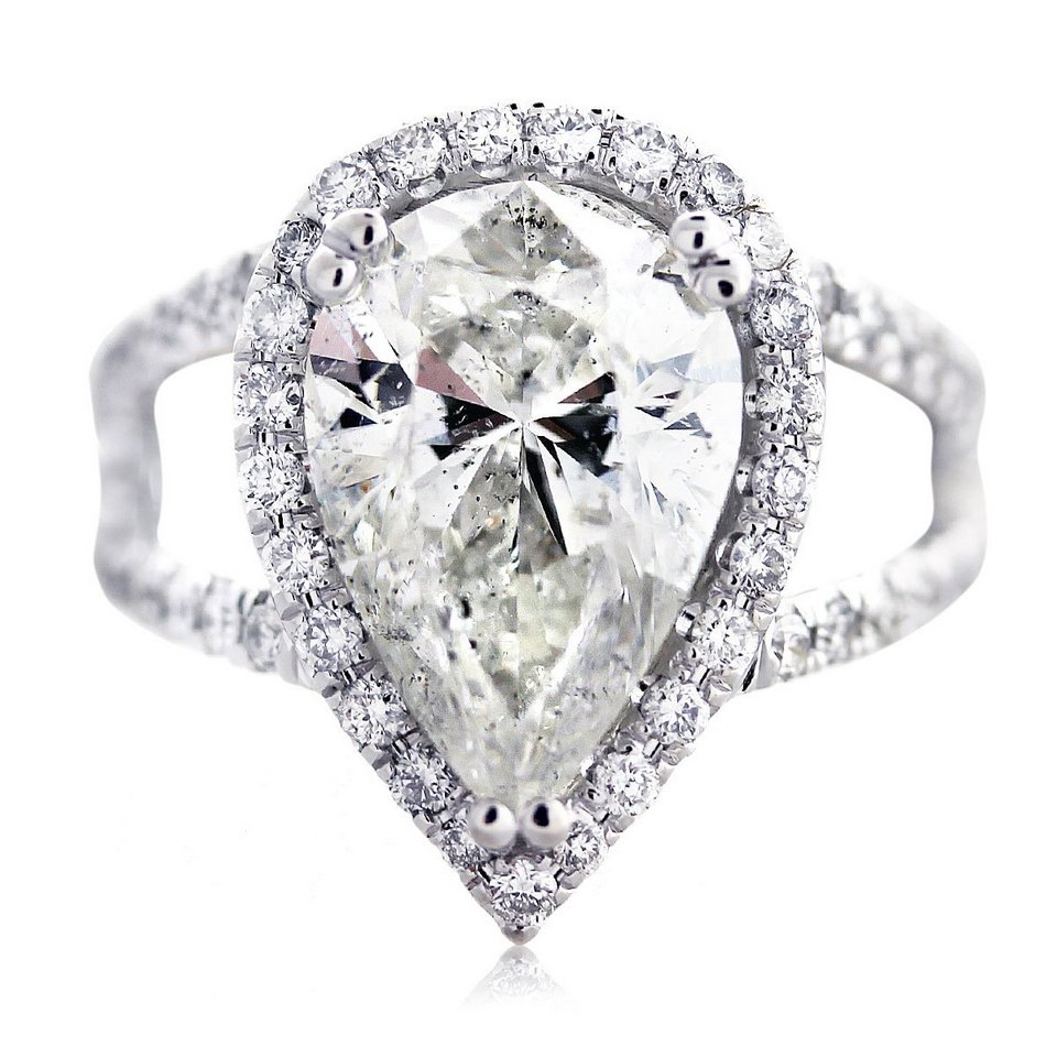 White Gold Pear Shaped Engagement Rings Wedding And Bridal Inspiration