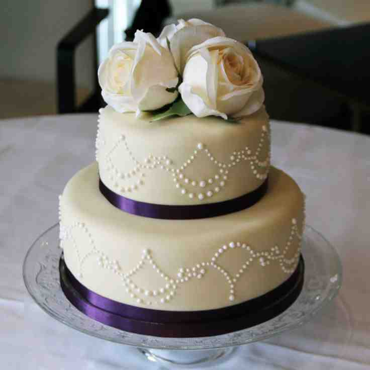 Two Tier Wedding Cake Ideas - Wedding and Bridal Inspiration